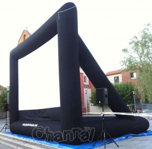 large inflatable movie screen