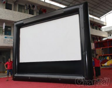 giant backyard theater inflatable movie screen