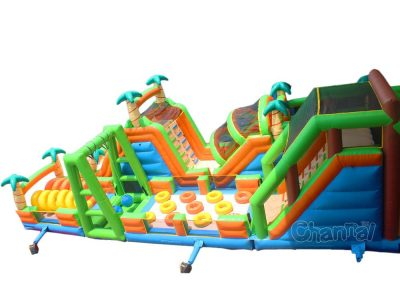 jungle giant inflatable obstacle course