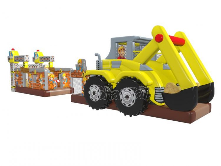 excavator and construction inflatable obstacle course