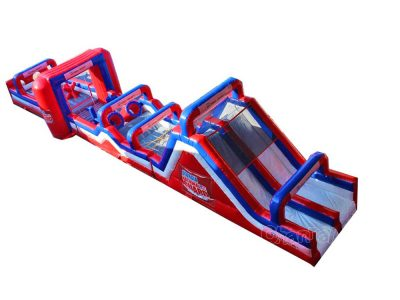 giant inflatable assault course for military