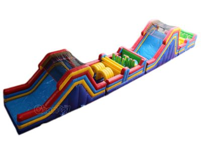 large inflatable obstacle course