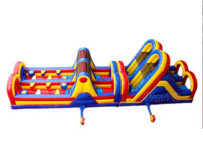 inflatable obstacle course run for children