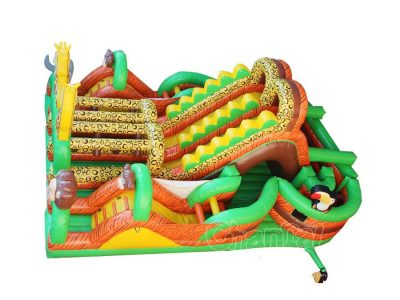 safari inflatable obstacle course for sale