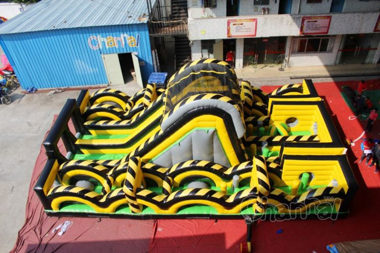 cheap toxic rush inflatable obstacle course