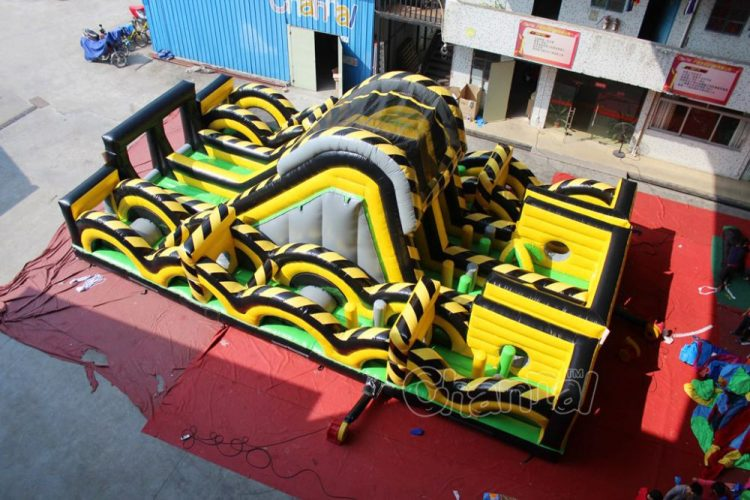 toxic nuclear inflatable obstacle course