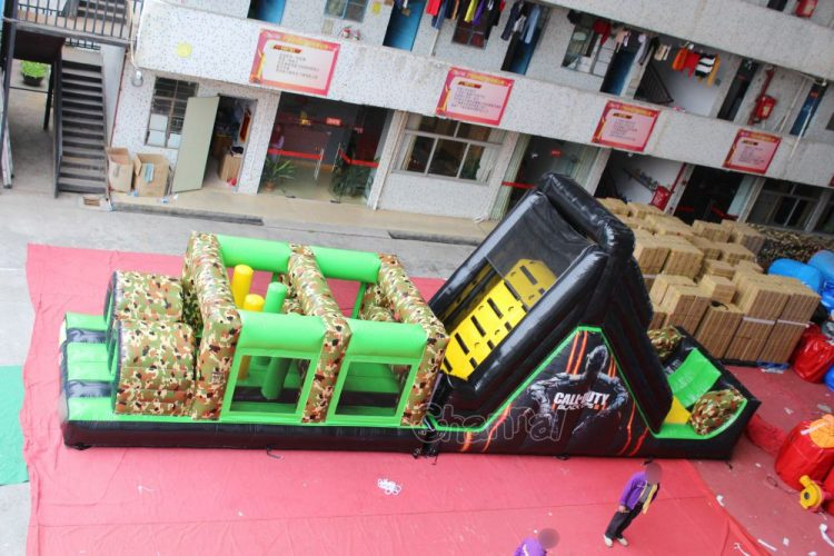 commercial call of duty black ops inflatable assault course for kids