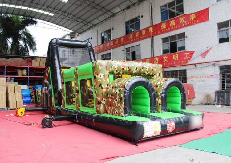 call of duty short inflatable obstacle course