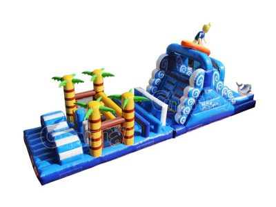 surfing inflatable obstacle course