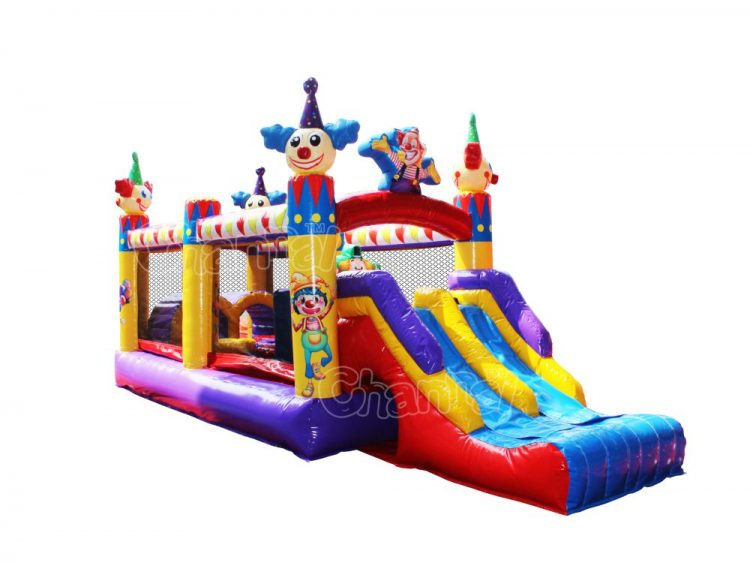 clown kids obstacle course