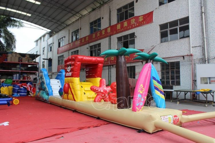 beach time inflatable obstacle course for kids