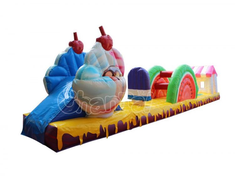 ice cream parlor inflatable water obstacle course