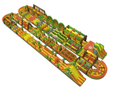 longest inflatable obstacle course