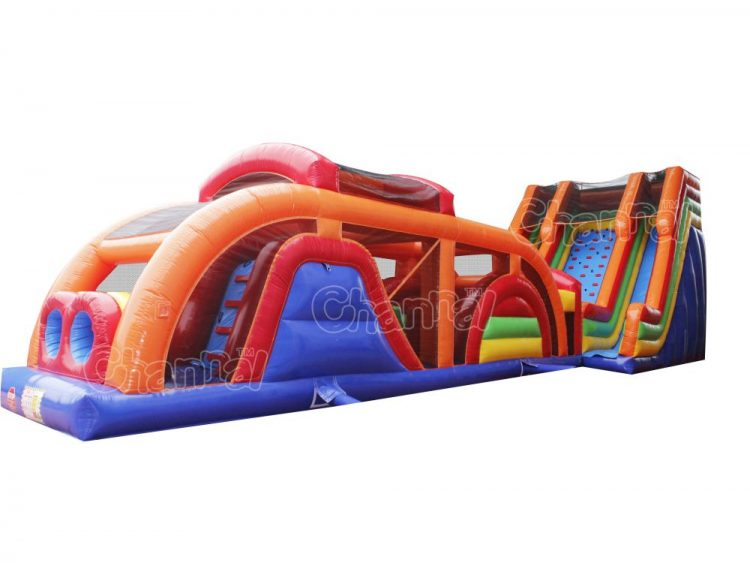extreme rush slide inflatable obstacle course