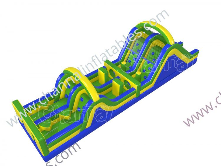 3 colors inflatable obstacle course