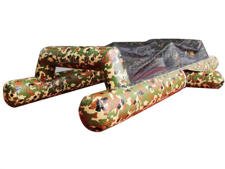 inflatable army crawl obstacle