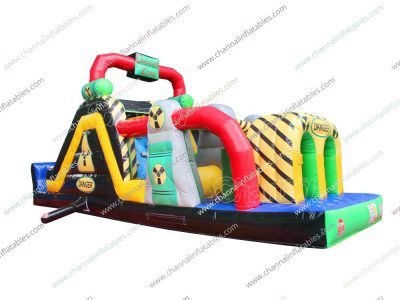 danger zone inflatable obstacle course