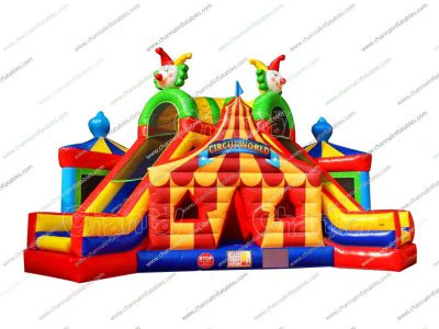 circus world inflatable obstacle course