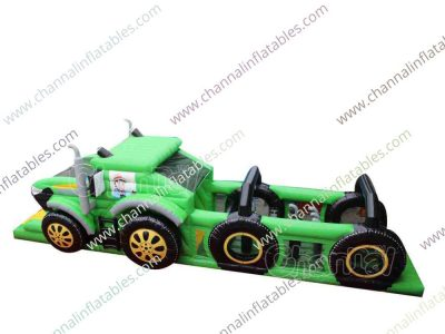 farm tractor inflatable obstacle course