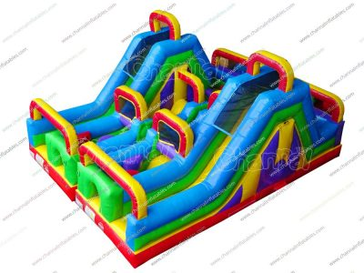 twin obstacle course