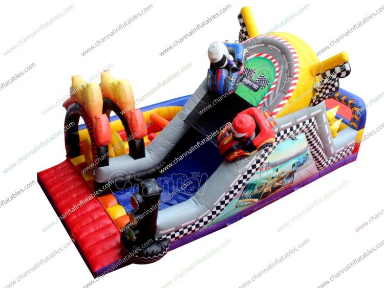 racing car single obstacle course