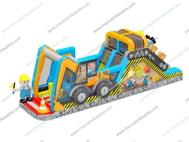 construction zone inflatable obstacle course