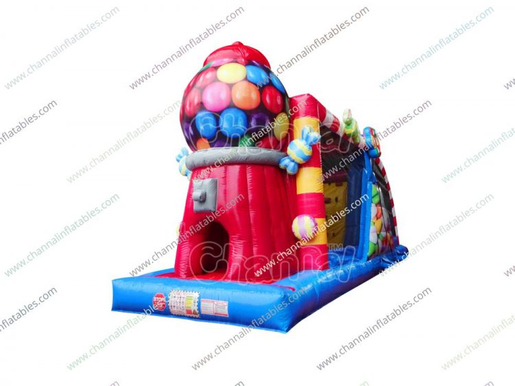gumball vending machine inflatable obstacle course