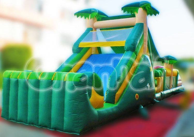 forest inflatable obstacle course