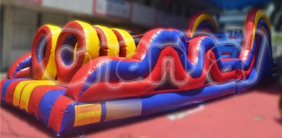 wave shape inflatable obstacle course