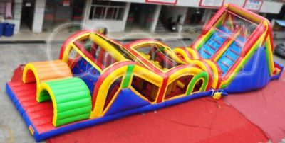 detached inflatable obstacle course