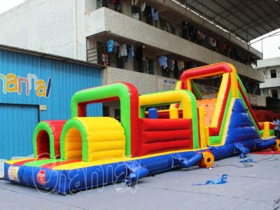 multi colors inflatable obstacle course