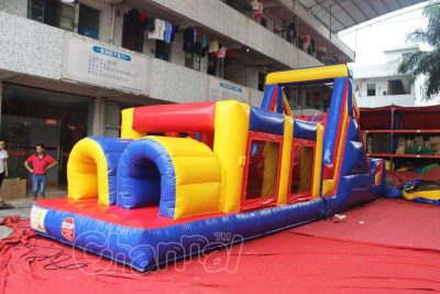 double lane inflatable obstacle course