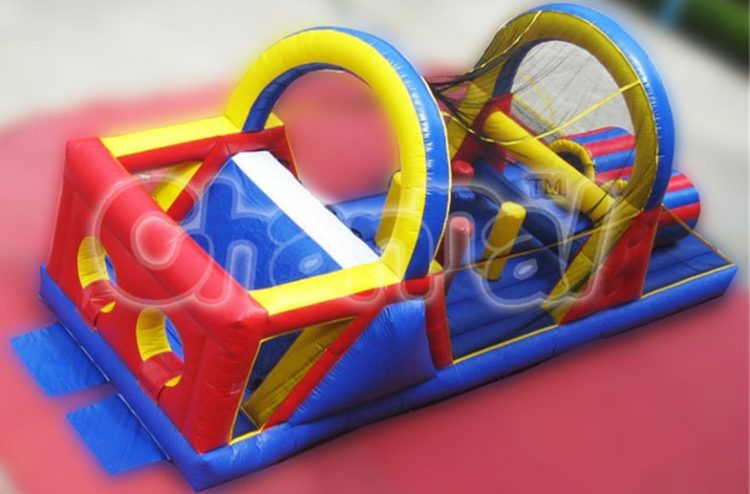 netting inflatable obstacle course