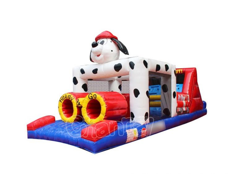 dalmatian themed inflatable obstacle course