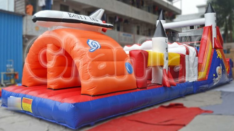 space shuttle inflatable obstacle course