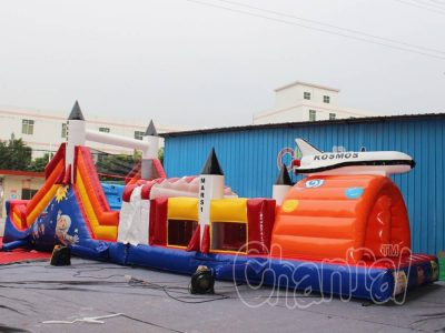 space rocket inflatable obstacle course