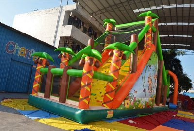jungle jump off inflatable obstacle course