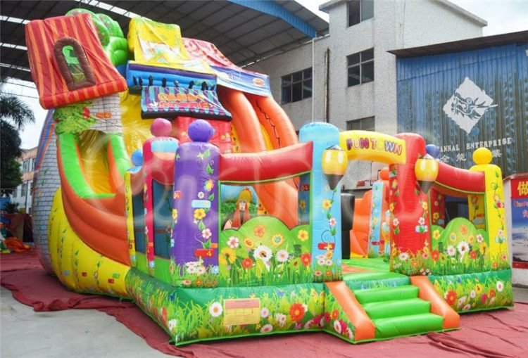 fun town wonderland inflatable slide for kids
