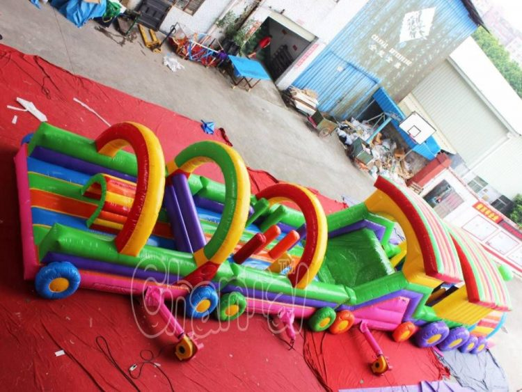 inflatable train course for kids