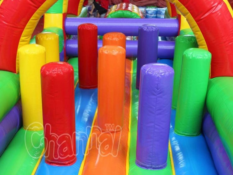 inflatable hurdle and pop ups