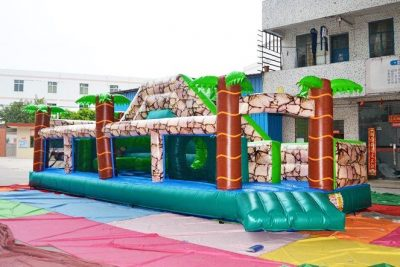 forest mountain inflatable obstacle course