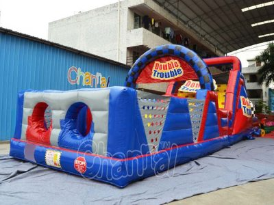 double trouble inflatable obstacle course