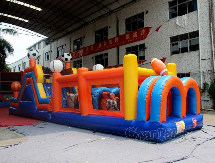 sports inflatable obstacle course