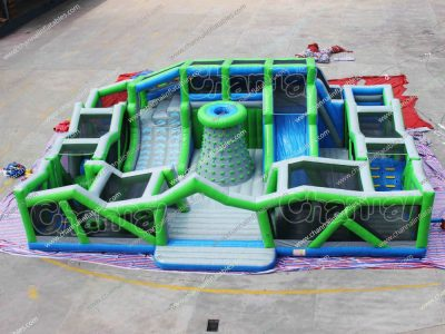 giant inflatable obstacle course playground