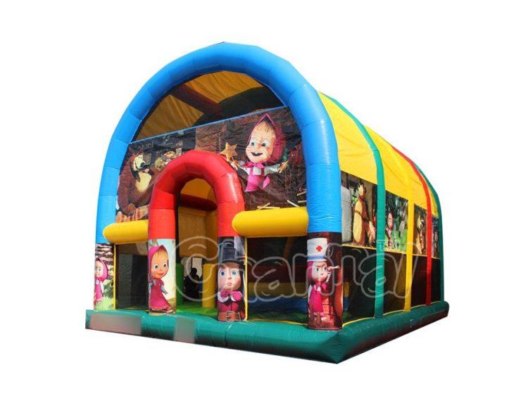 masha and the bear inflatable playground