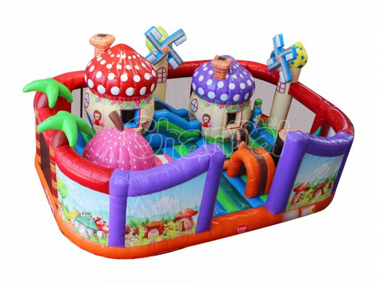 cartoon mushroom house inflatable playground