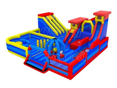jump and slide inflatable large playground