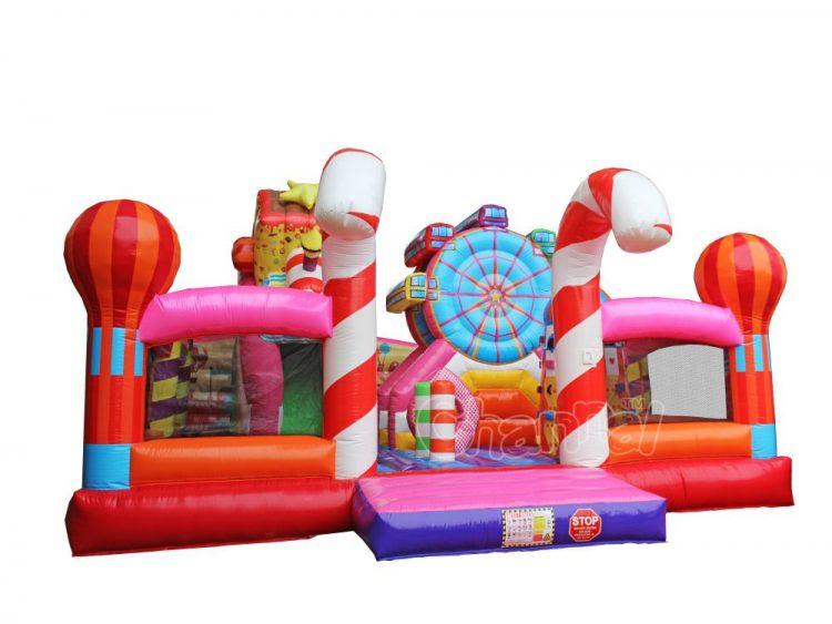 bouncy inflatable fairground for sale