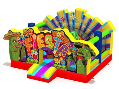 Mexican fiesta inflatable playground
