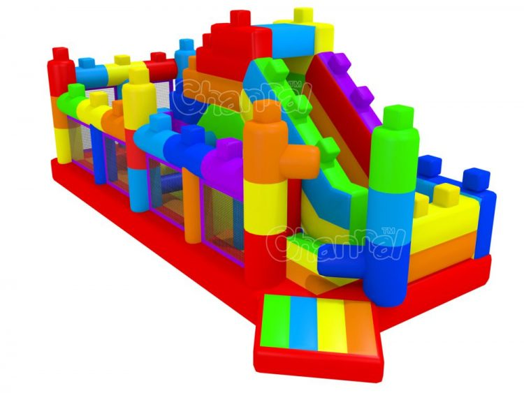 lego inflatable course